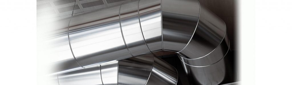 Closeup of furnace pipes