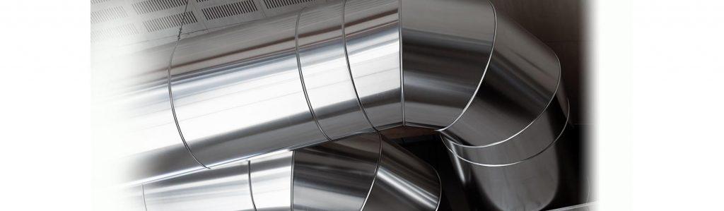 Closeup of furnace pipes